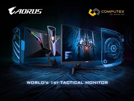 AORUS AD27QD Tactical Monitor Wins Computex d&i Award